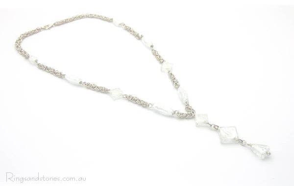 Sterling silver bridal necklace