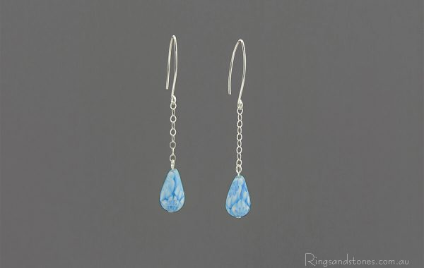 Murano glass drop earrings